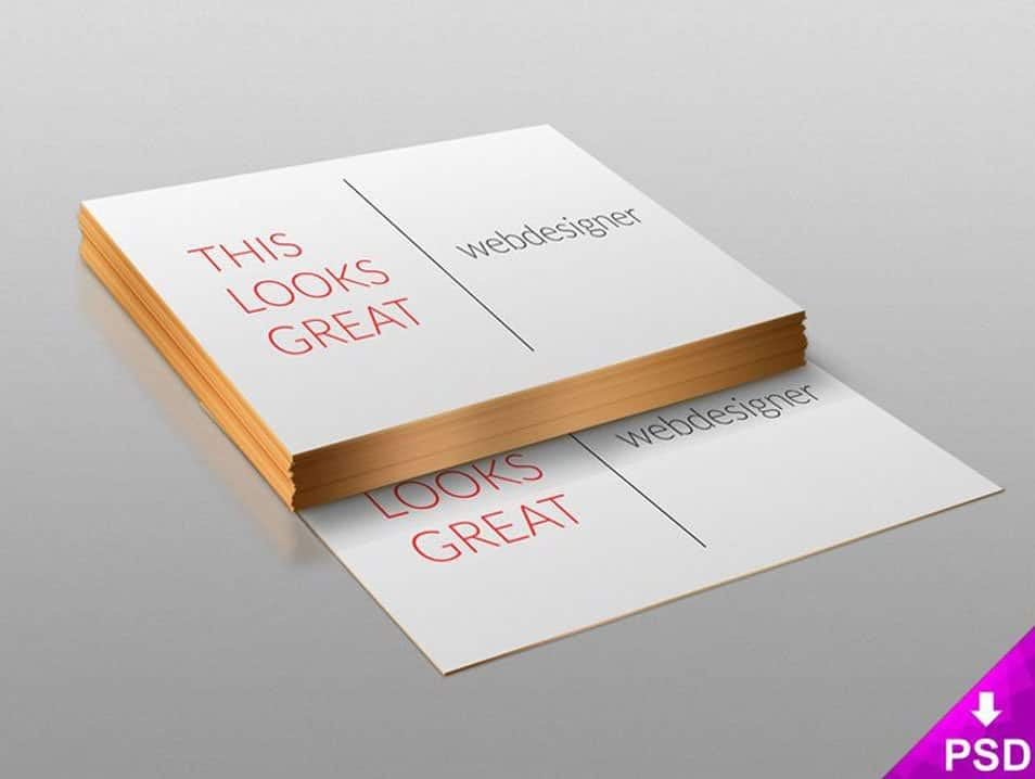 Stack of Business Cards Design