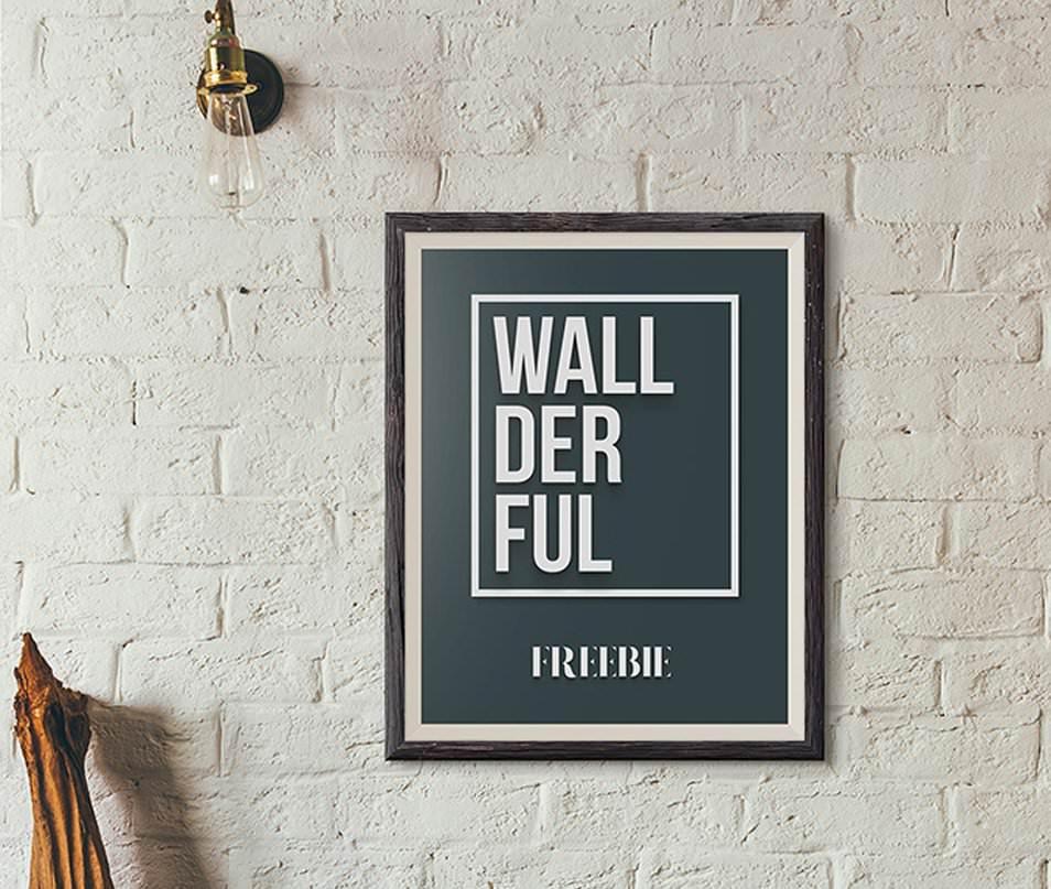 Wallderful: Free Frame Mockups