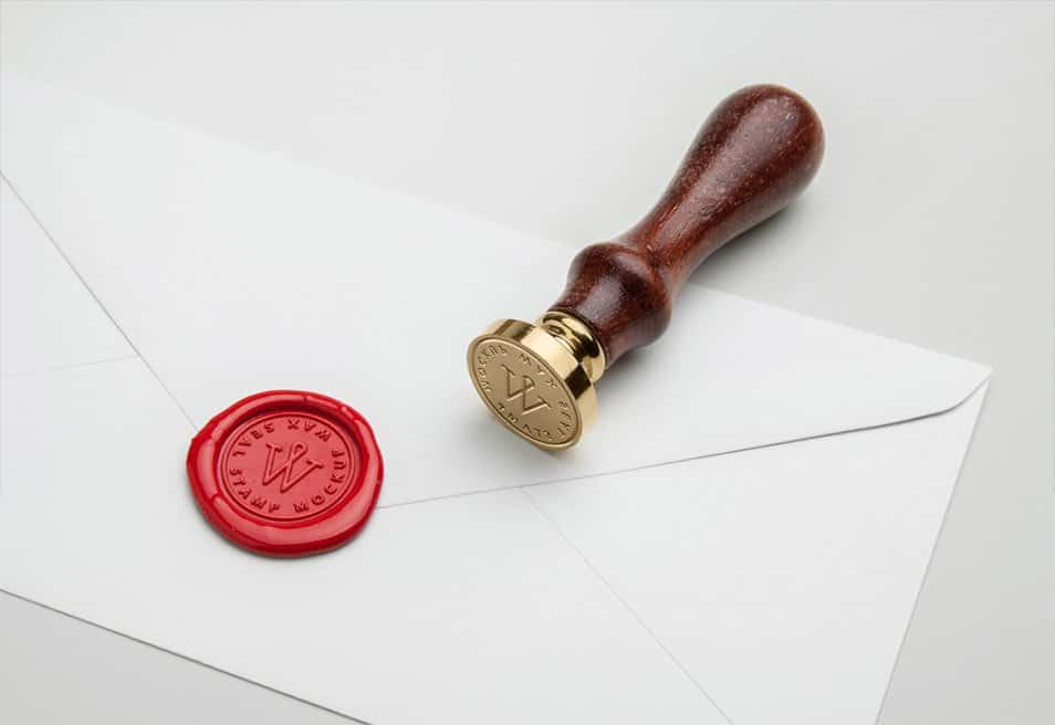 Wax Seal Stamp PSD MockUp