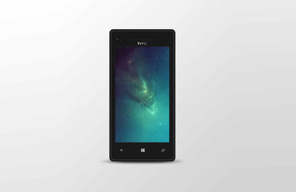 Windows Phone 8X PSD Mock Up