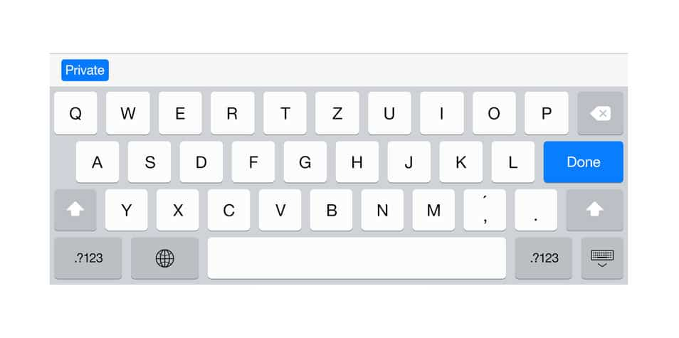 iPad Retina Keyboard Mockup