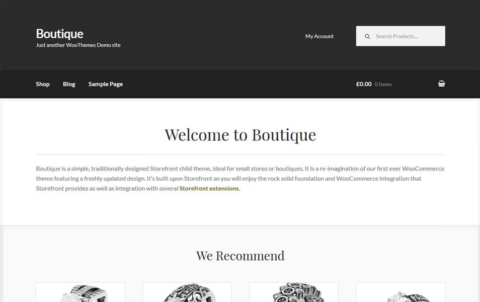 Boutique Responsive WordPress Theme