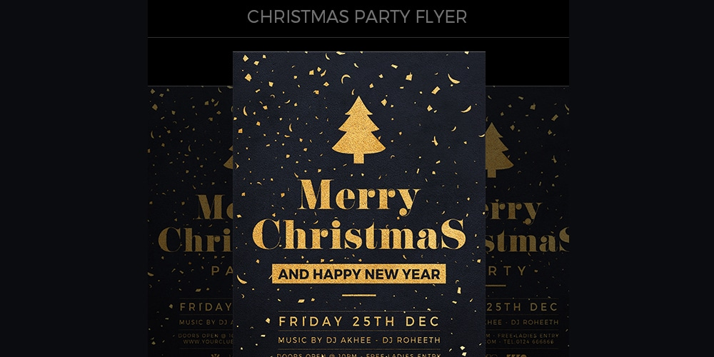 Free Christmas Flyer Template PSD