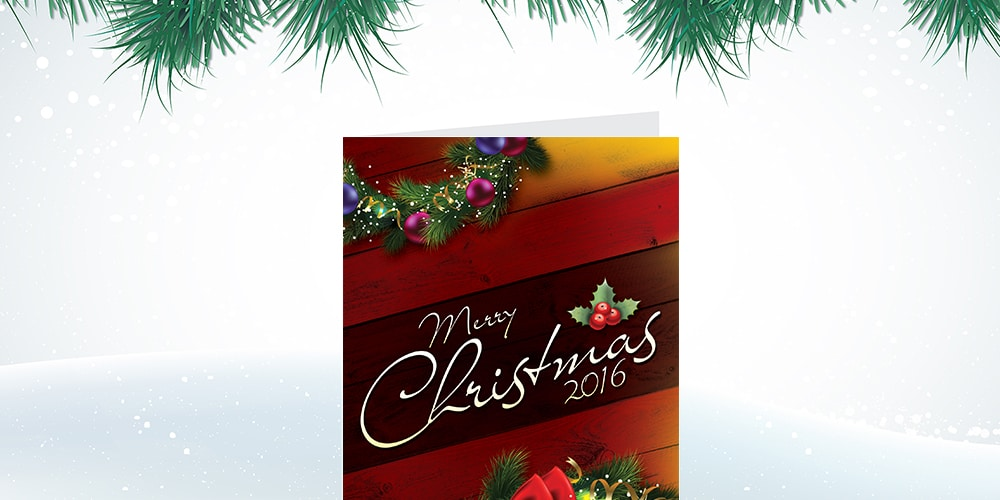 Free Christmas Greetings Card Template PSD