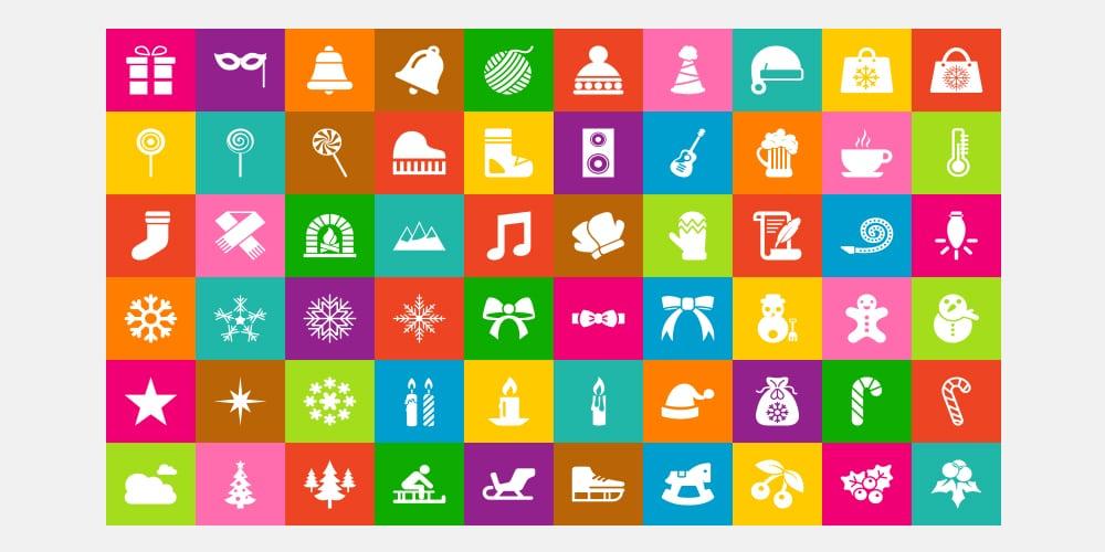 Free Flat Christmas Icons