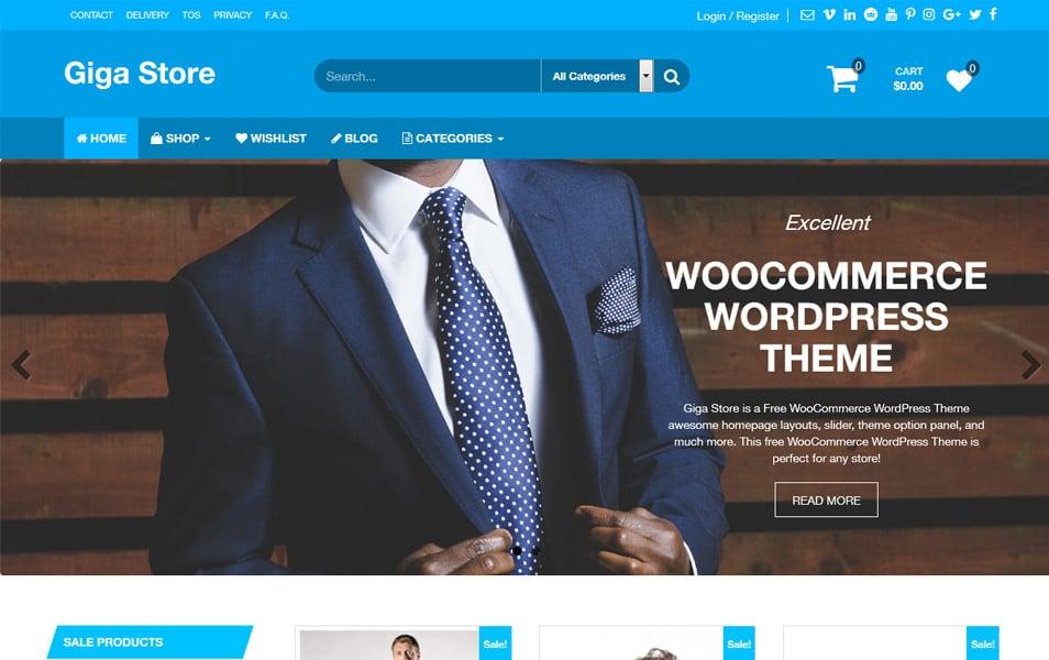 گیگا فروشگاه رایگان تم WooCommerce پاسخگو