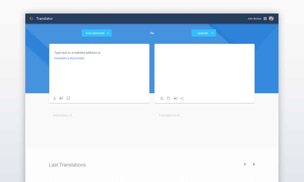 Google Translator Redesign Concept