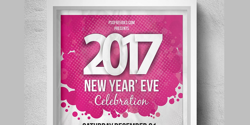 New Year Eve Party Flyer Template PSD