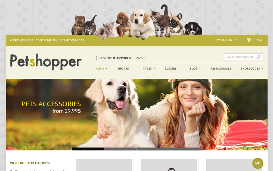 Petshopper Responsive WordPress Theme