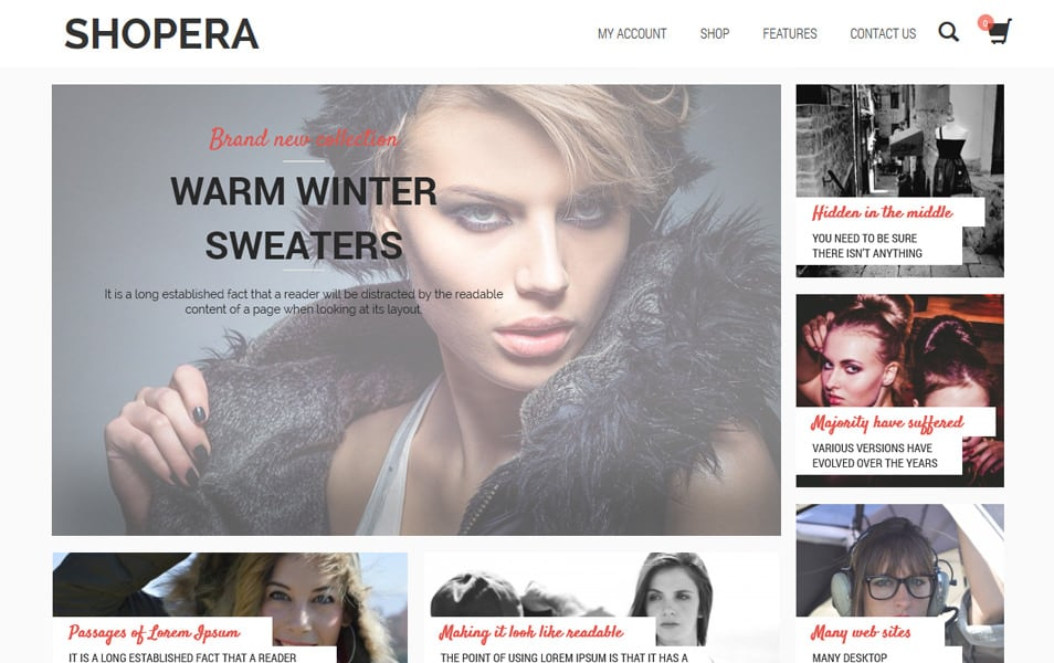 Shopera Responsive WordPress Theme