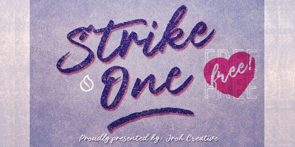 Strike One Script Font