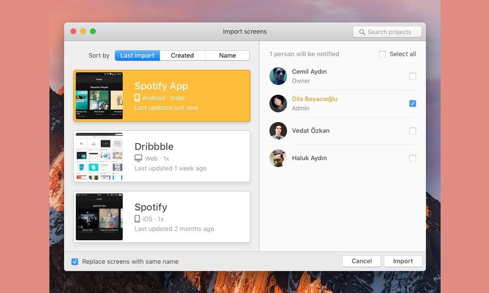 Zeplin App Redesign