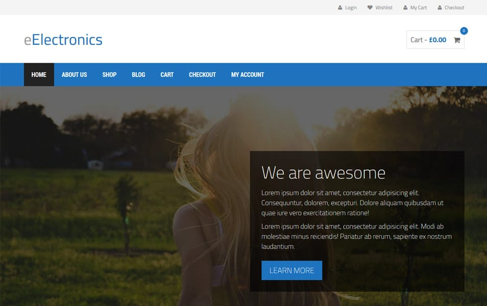 eElectronics Responsive WordPress Theme