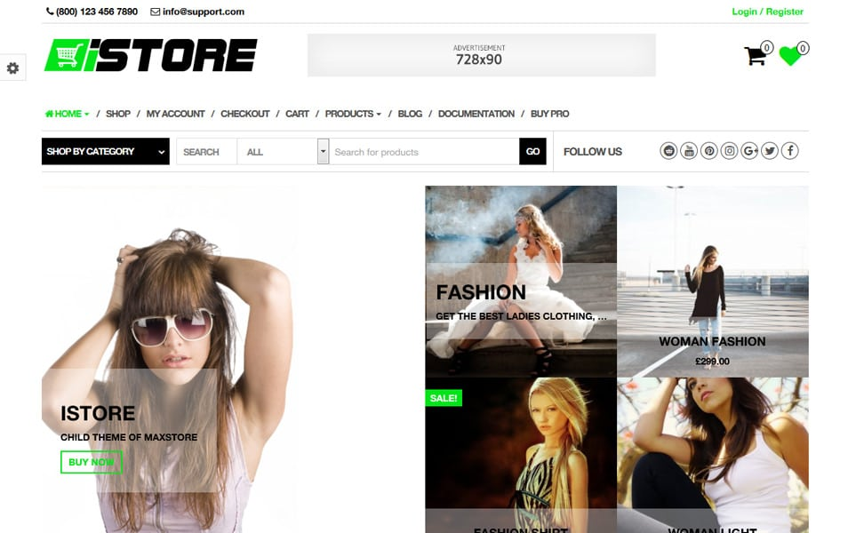 iStore Responsive WordPress Theme