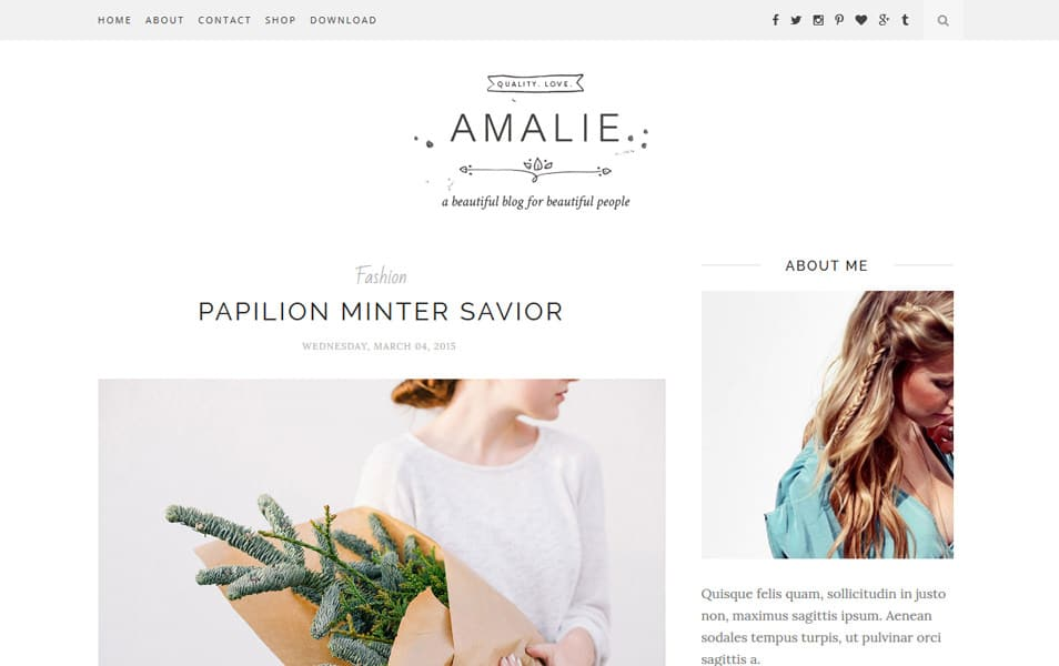 Amalie Responsive Blogger Template