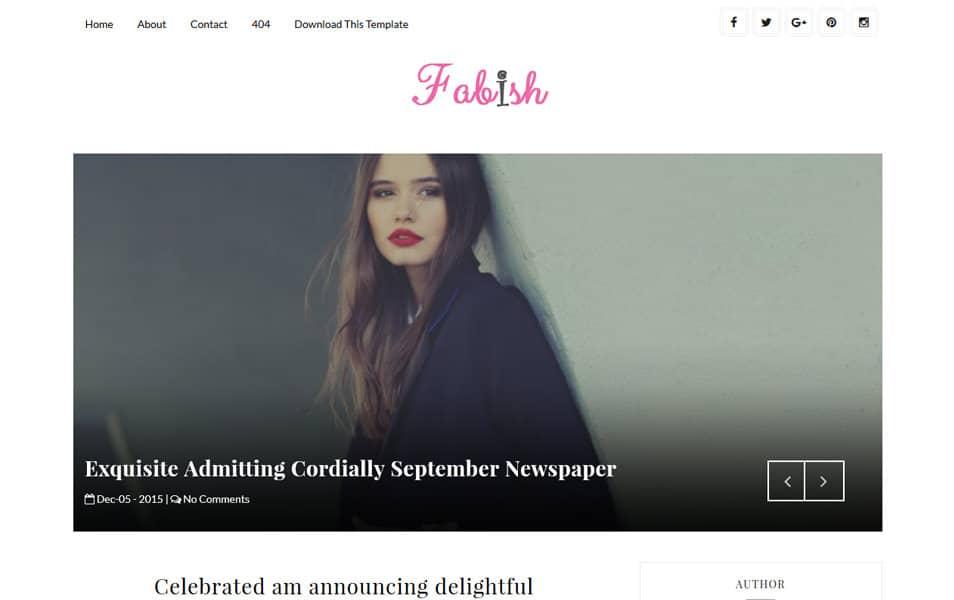 Fabish Responsive Blogger Template