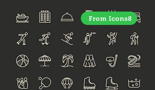 Free Leisure Line Icon Set