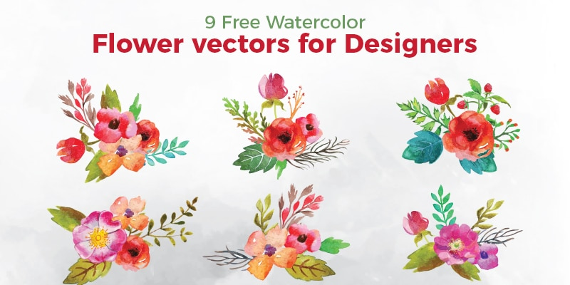 Free Watercolor Flower Vectors