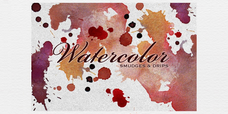 Free Watercolor Smudges, Textures and Brushes
