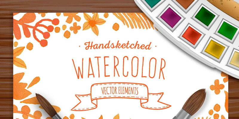Free Watercolor Vector Elements