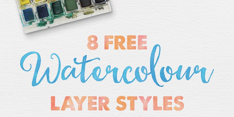 Free Watercolour Layer Styes for Photoshop