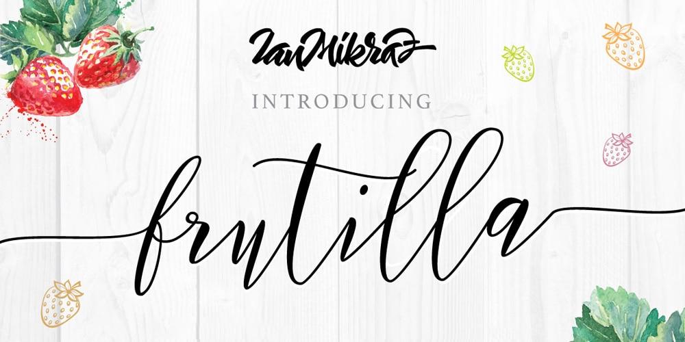 Frutilla Script Typeface