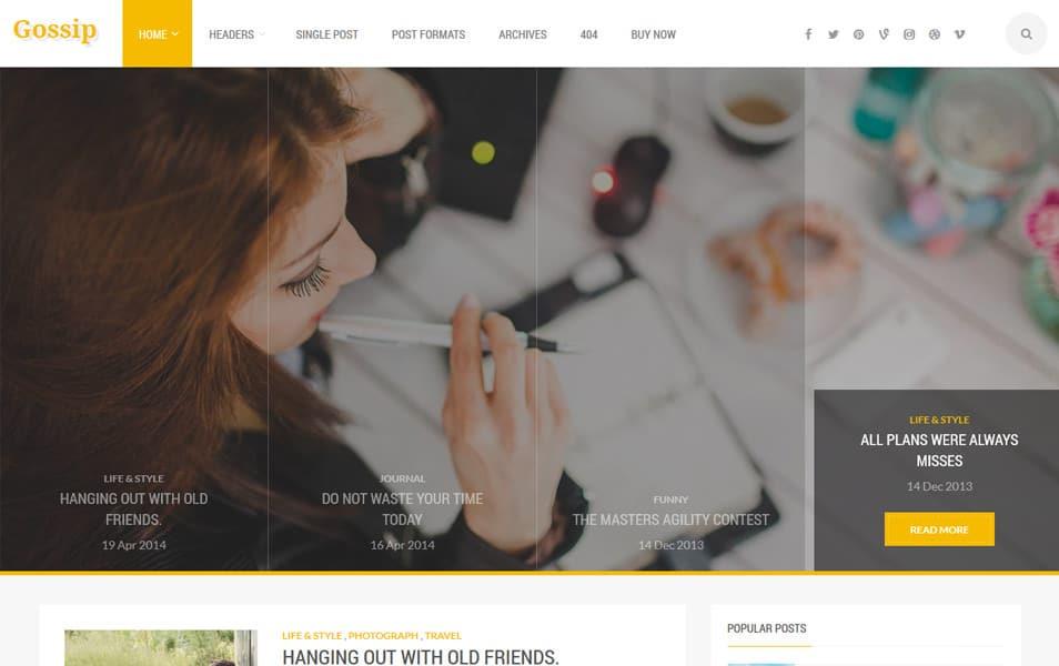 Gossip Responsive Blogger Template