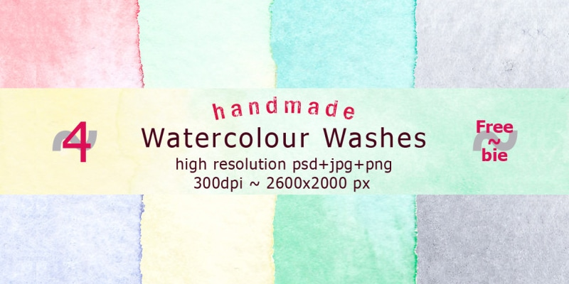 Handmade Watercolour Washes
