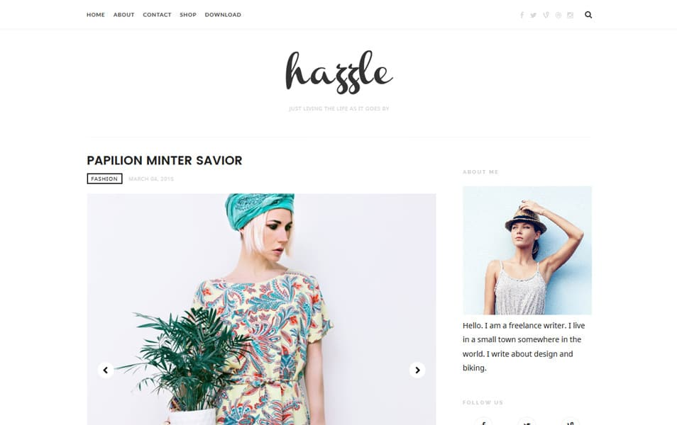 Hazzle Responsive Blogger Template