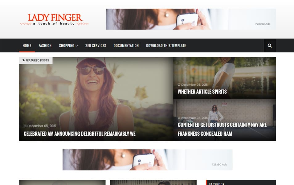 Lady Finger Responsive Blogger Template