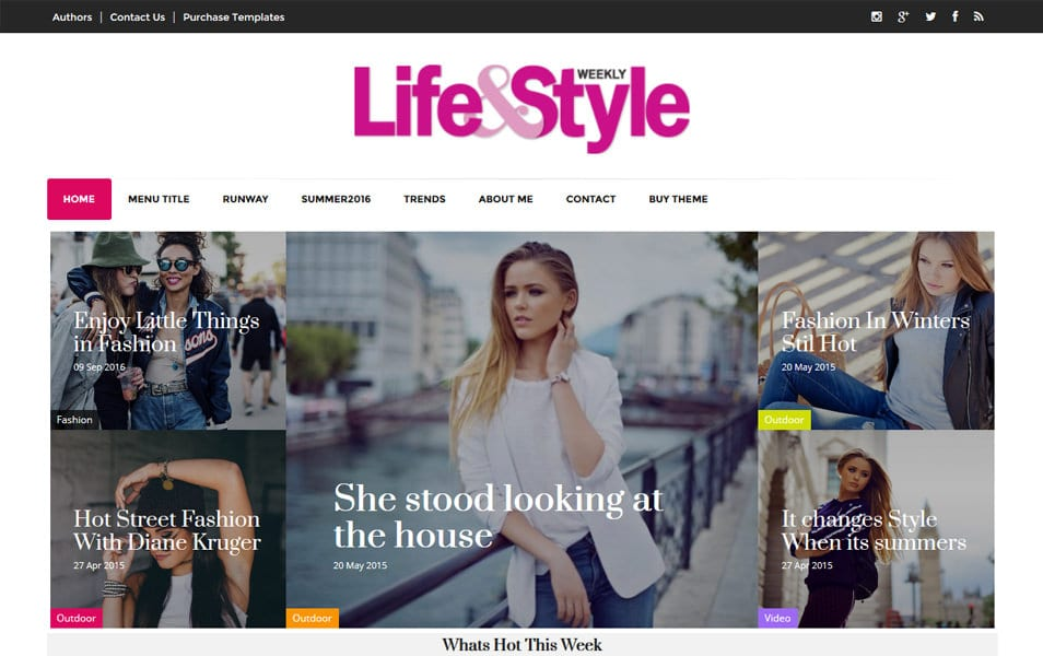 Life&Style Responsive Blogger Template