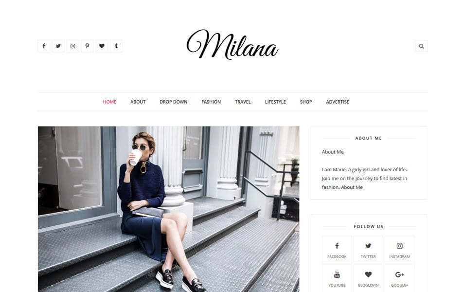 Milana Responsive Blogger Template