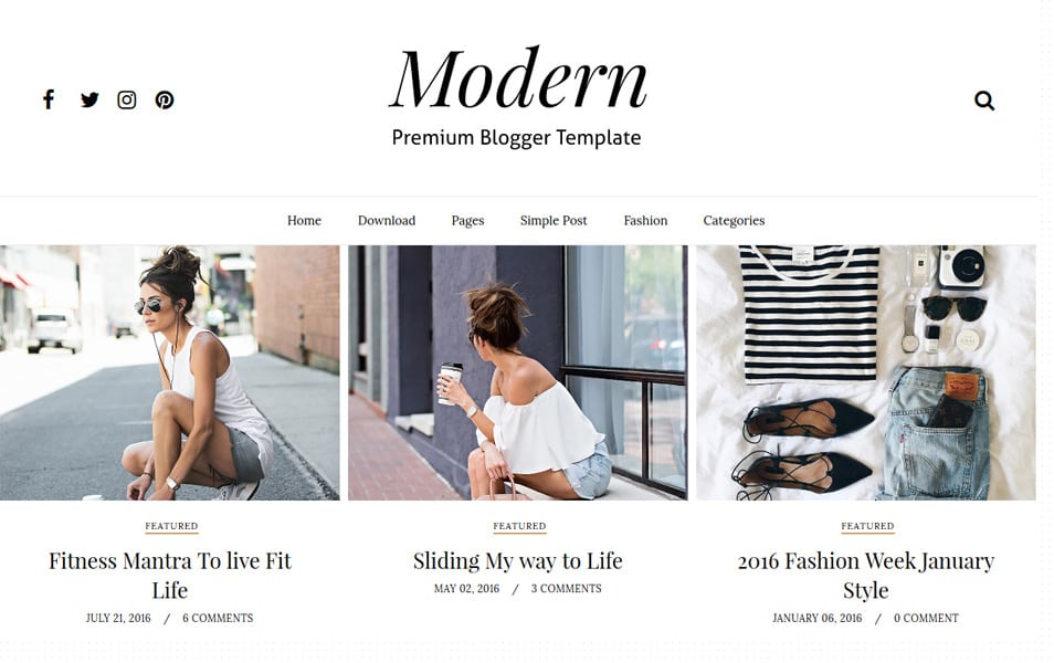 40 latest free grid style blogger templates 2017 css author modern grid responsive blogger template pronofoot35fo Choice Image