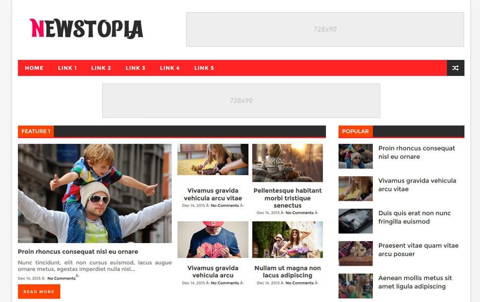 Newstopia Responsive Blogger Template
