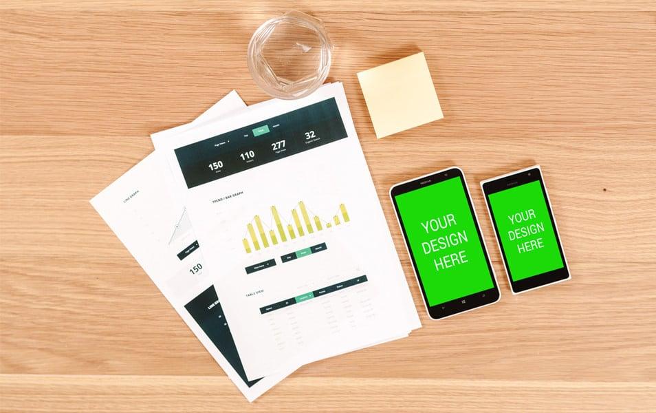 Nokia SmartPhone Combo Mockup