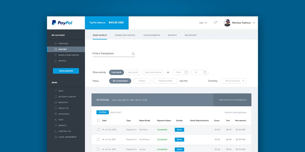 Paypal Redesign