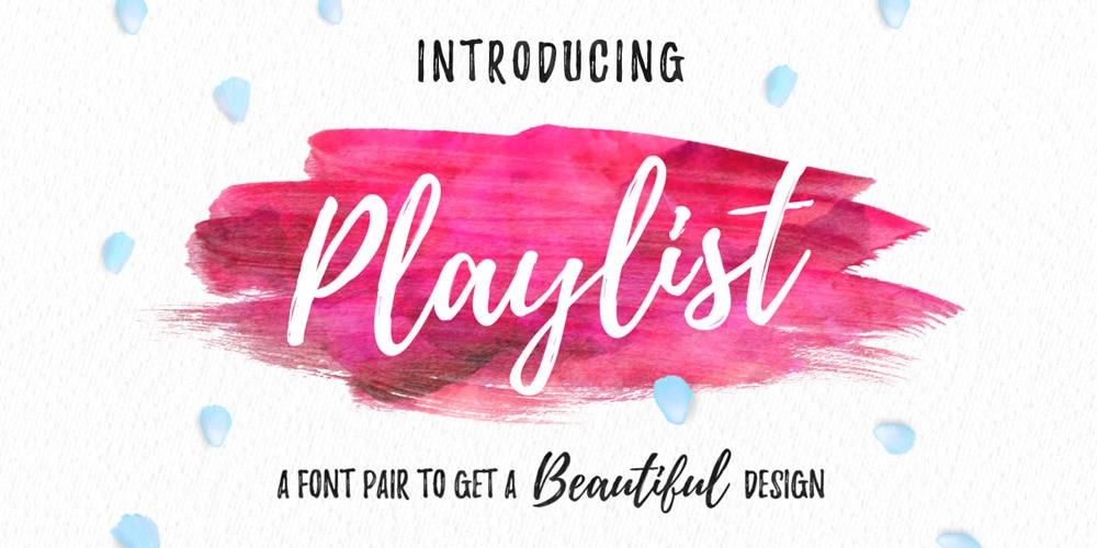 Playlist Font
