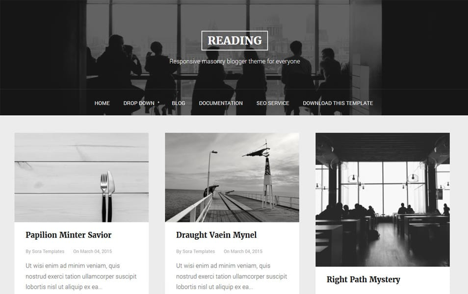 Reading Responsive Blogger Template
