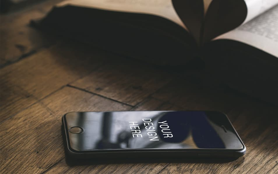 Realistic iPhone 6 Plus Mockup