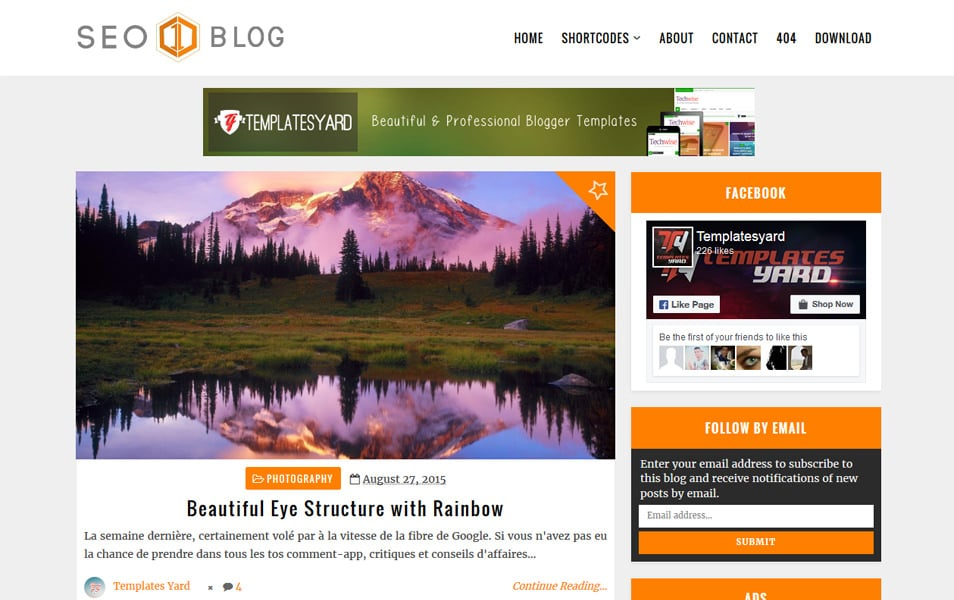 Seo Blog Responsive Blogger Template