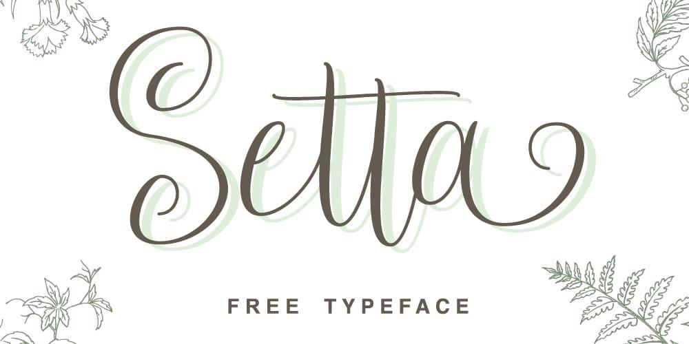 Setta Script Typeface