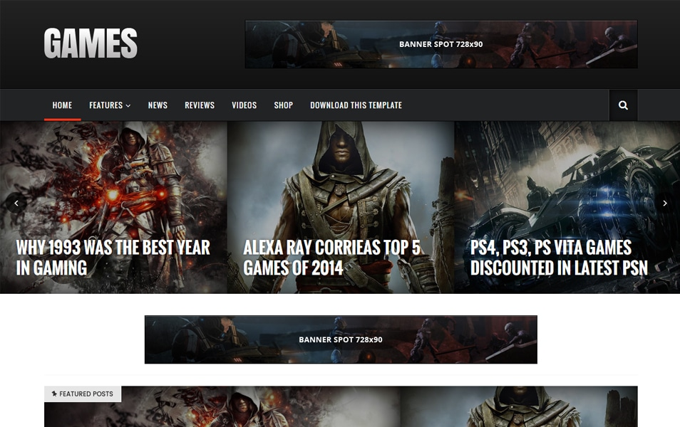 Sora Games Responsive Blogger Template