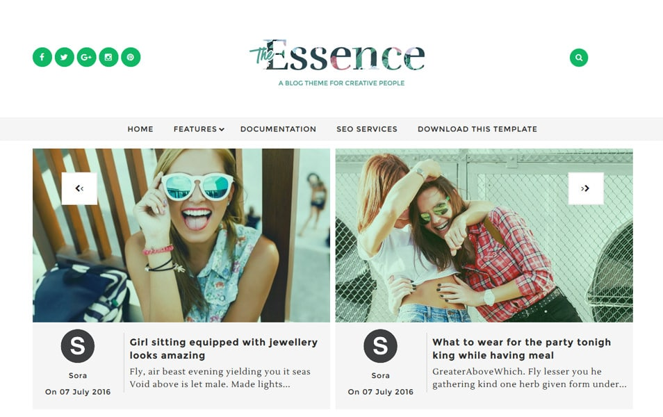 The Essence Responsive Blogger Template