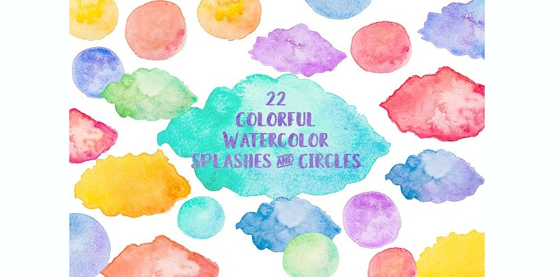 Color Painting Watercolor Splash Background Color Clipart: Free Watercolour Elements For Designers » CSS Author