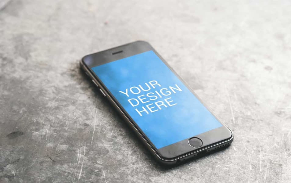 iPhone 6S Minimalist Mockup