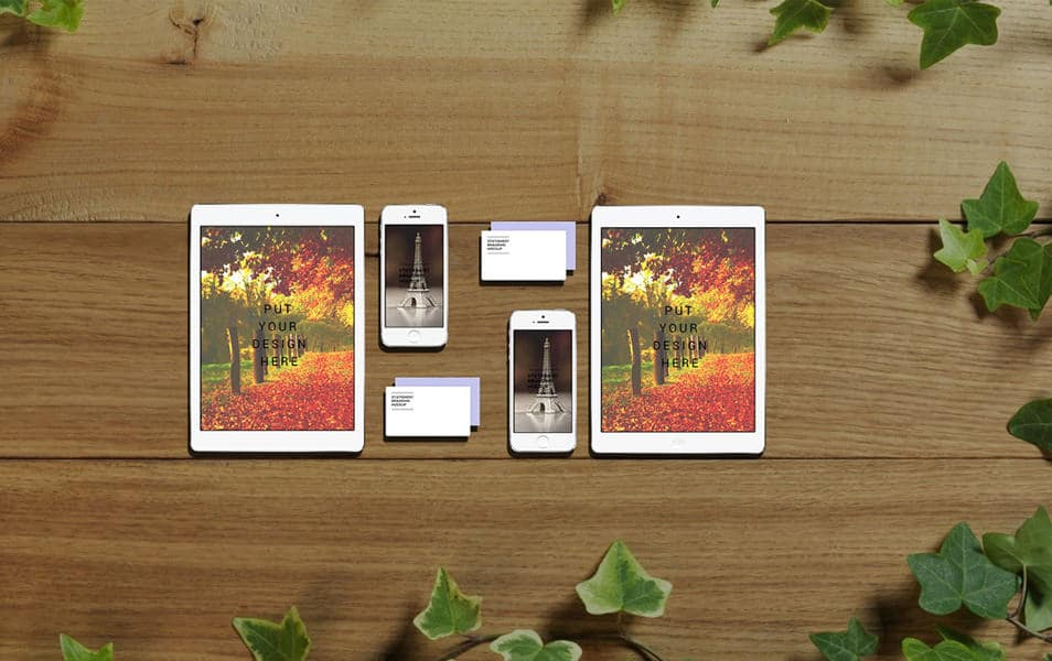 iPhone & iPad Set Mockup