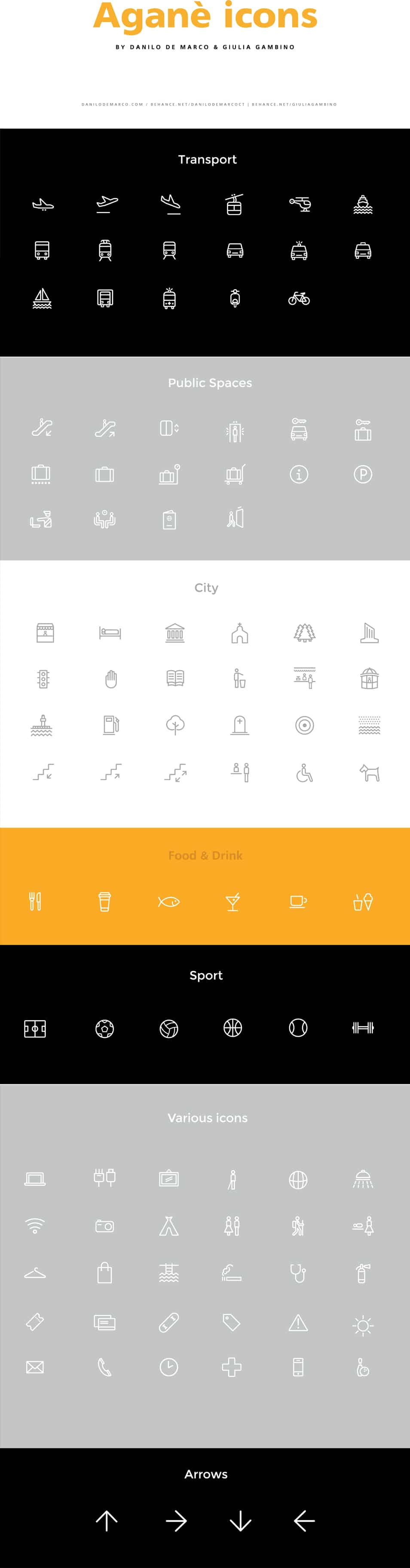 Agane icons free line icon set css author for Cssauthor