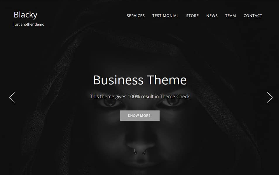 Blacky Responsive WordPress Theme