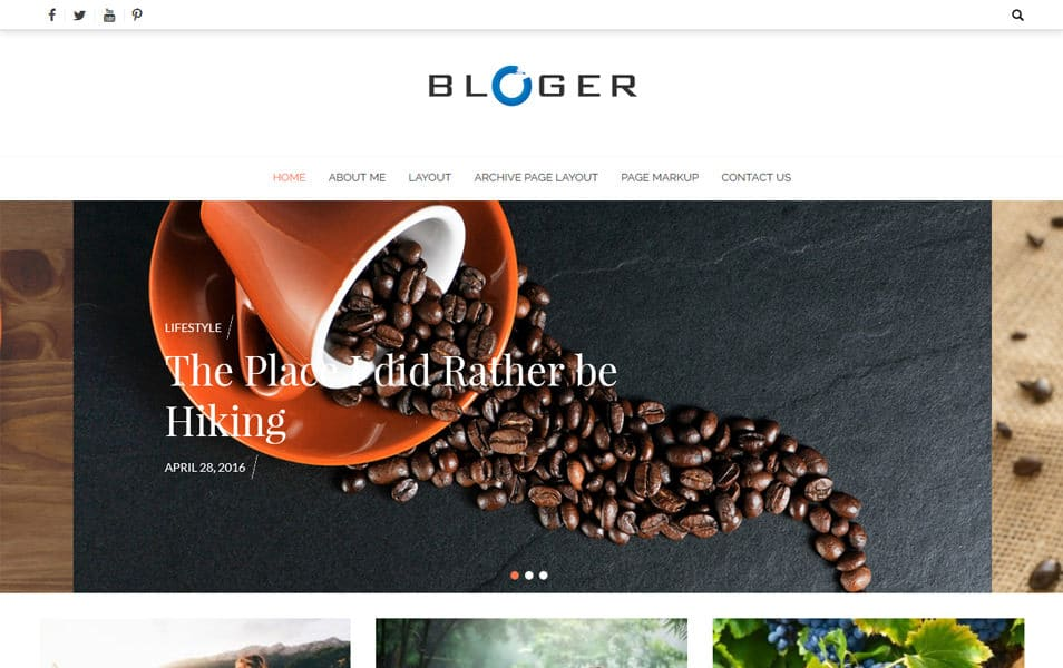 Bloger Responsive WordPress Theme