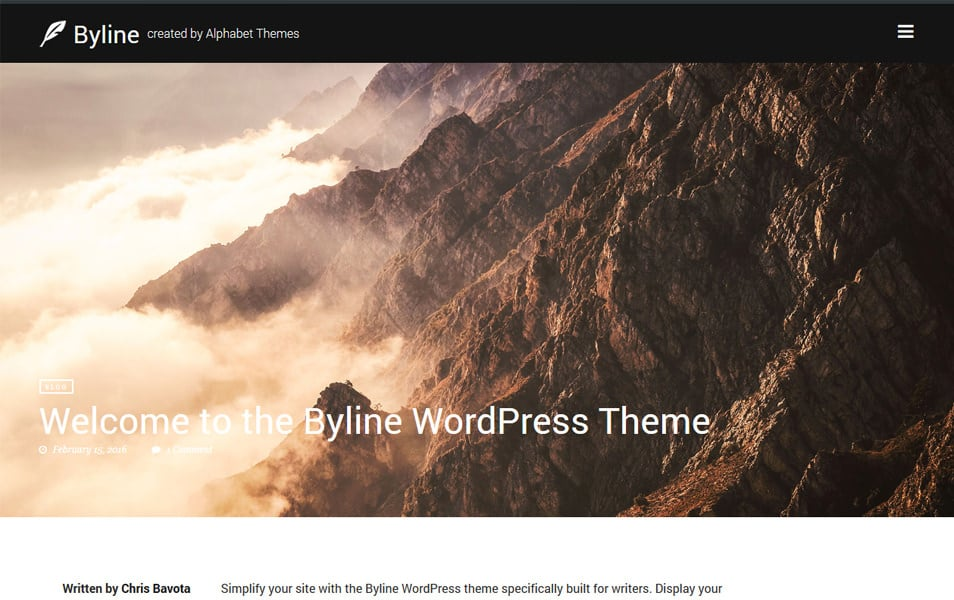 Byline Responsive WordPress Theme